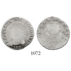 Bogota, Colombia, 2 reales, 1820JF, with stars in legend on both sides, very rare.