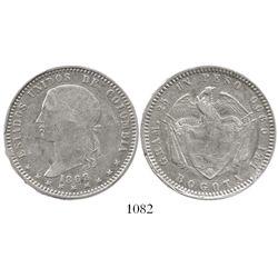 Bogota, Colombia, 1 peso, 1868, very rare.