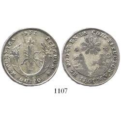 Quito, Ecuador, 4 reales, 1841MV.