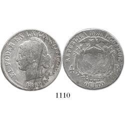Quito, Ecuador, 4 reales, 1862.
