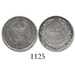 El Salvador, 10 centavos, 1892-CAM.