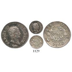 France (Paris mint), 1/4 franc, Napoleon, 1806-A.