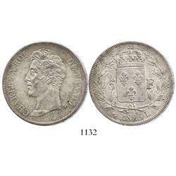 France (Bayonne mint), 5 francs, Charles X, 1826-L.