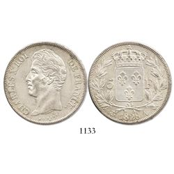 France (Paris mint), 5 francs, Charles X, 1828-A.