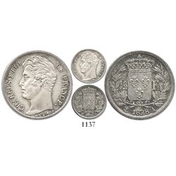 France (Paris mint), 1/2 franc, Charles X, 1828-A.