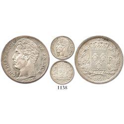 France (Rouen mint), 1/2 franc, Charles X, 1829-B.
