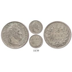 France (Paris mint), 50 centimes, Louis Philippe I, 1848-A.