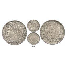 France (Bordeaux mint), 2 francs, 1870-K.