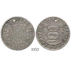 Guatemala, pillar 4 reales, Ferdinand VI, 1759J.