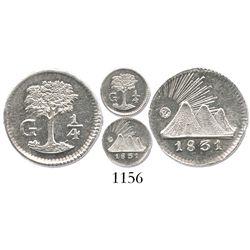 Guatemala, Central America Republic, 1/4 real, 1831-G.