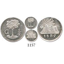 Guatemala, Central America Republic, 1/4 real, 1837-G.