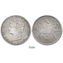 Guatemala, 1 peso, 1882-A.E.