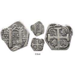 """Tegucigalpa, Honduras, """"imitation cob"""" 2 reales, 1823P-Y."""