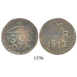 Oaxaca (Morelos/SUD), Mexico, copper 2 reales, 1812, unlisted design.