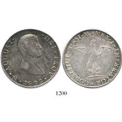 Mexico City, Mexico, 8 reales, 1822JM, Iturbide.