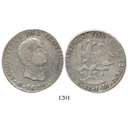 Mexico City, Mexico, 8 reales, 1823JM, Iturbide.