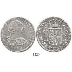 Lima, Peru, bust 8 reales, Charles III, 1788IJ.