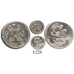Lima, Peru, 1/4 real, 1800.