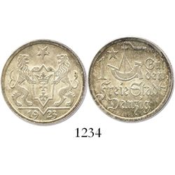 Danzig (Poland), 1 gulden, 1923.