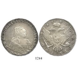 Russia (Moscow), 1 rouble, Elizabeth I, 1745-MMD.