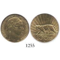 Uruguay (struck in Paris), aluminum-bronze 10 centesimos, 1936-A, encapsulated PCGS MS65.