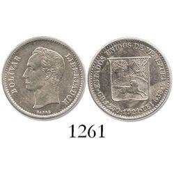 Venezuela, 1/4 bolivar, 1921.