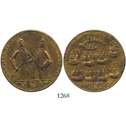 "Great Britain, brass ""Admiral Vernon"" medal, Porto Bello, 1739, Vernon and Brown."