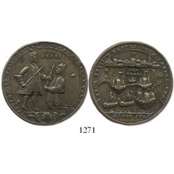 "Great Britain, brass ""Admiral Vernon"" medal, Cartagena, 1741, Vernon and Blas."