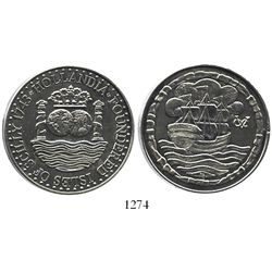 Great Britain, silver Hollandia medallion (ca. 1987), made from silver from the ship.