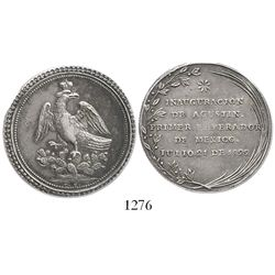 Mexico, silver proclamation medal, Iturbide, 1822.