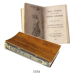 Tiny book made from wood from the ship published in 1841 (first edition, 120 pp).