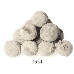 Lot of 12 lead-covered iron grapeshot, Spanish colonial (1500s).