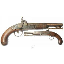 U.S. Model 1836 single-shot percussion pistol marked  A. WATERS / MILBURY, MS. / 1838.