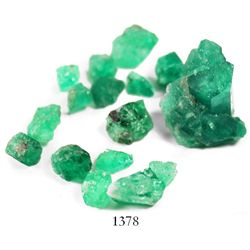 Lot of 16 natural emeralds from Colombia.
