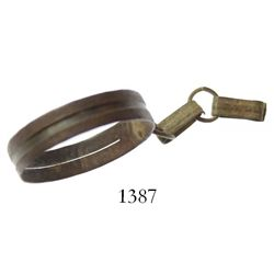 Brass ring sundial, mid-1550s to mid-1700s, rare.