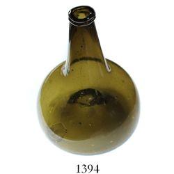 """Dutch """"onion"""" bottle, ca. 1740s."""