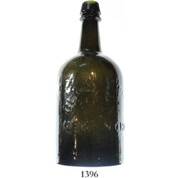 """US """"Saratoga style"""" mineral water bottle embossed with CLARKE & WHITE / NEW YORK, ca. 1860s."""