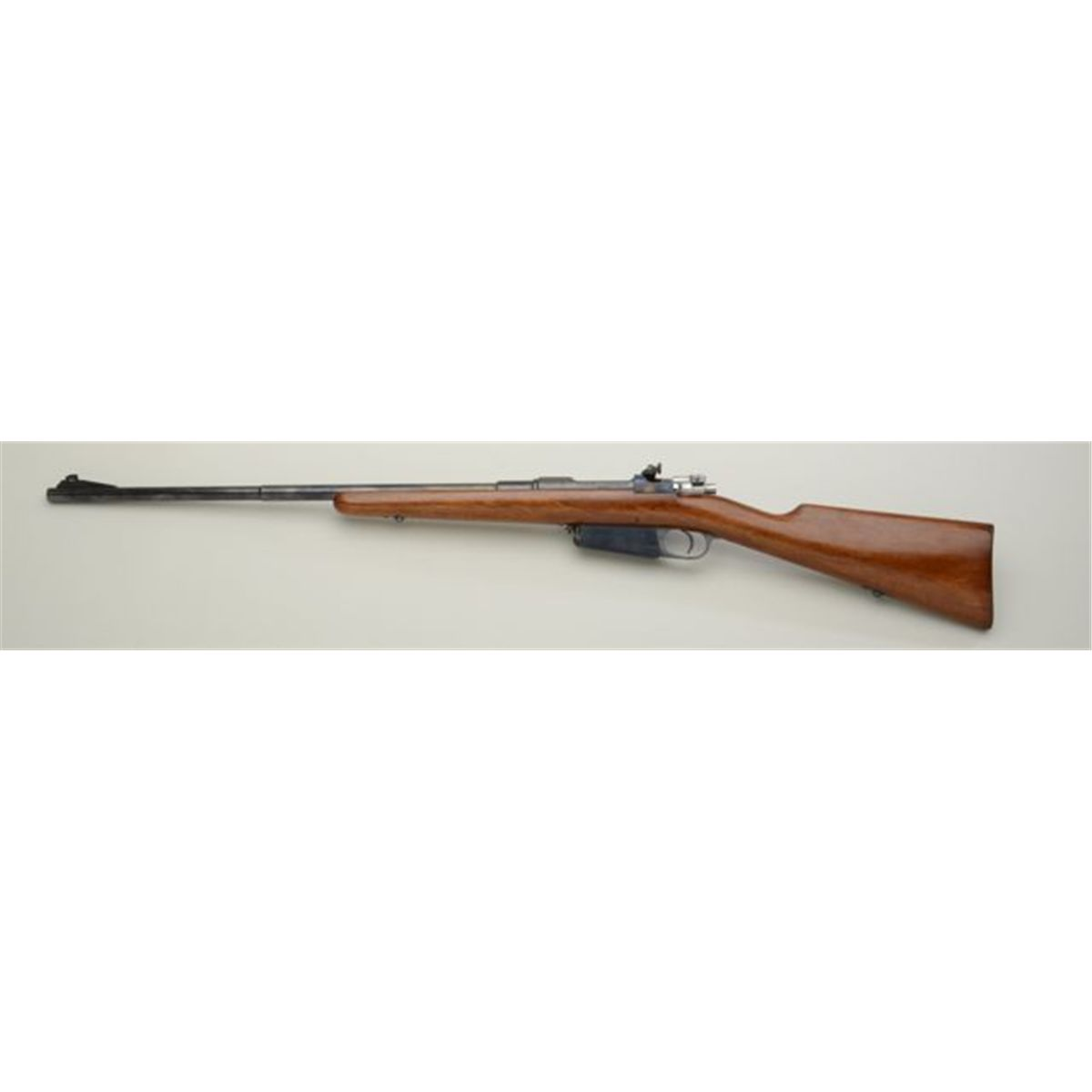 "Sporterized Model 1891 Argentine Mauser bolt-action rifle, 7 92mm cal , 24""  barrel, blue finish, r"