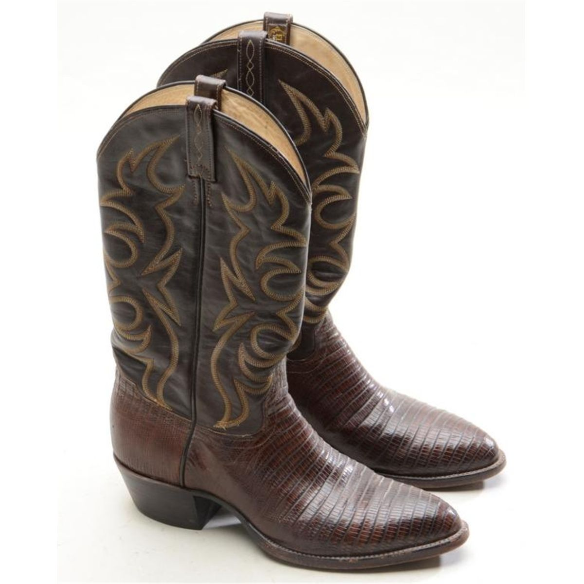 f60302c9d1b Pair of exotic handmade El Dorado leather and skin cowboy boots in overall  very good condition, si