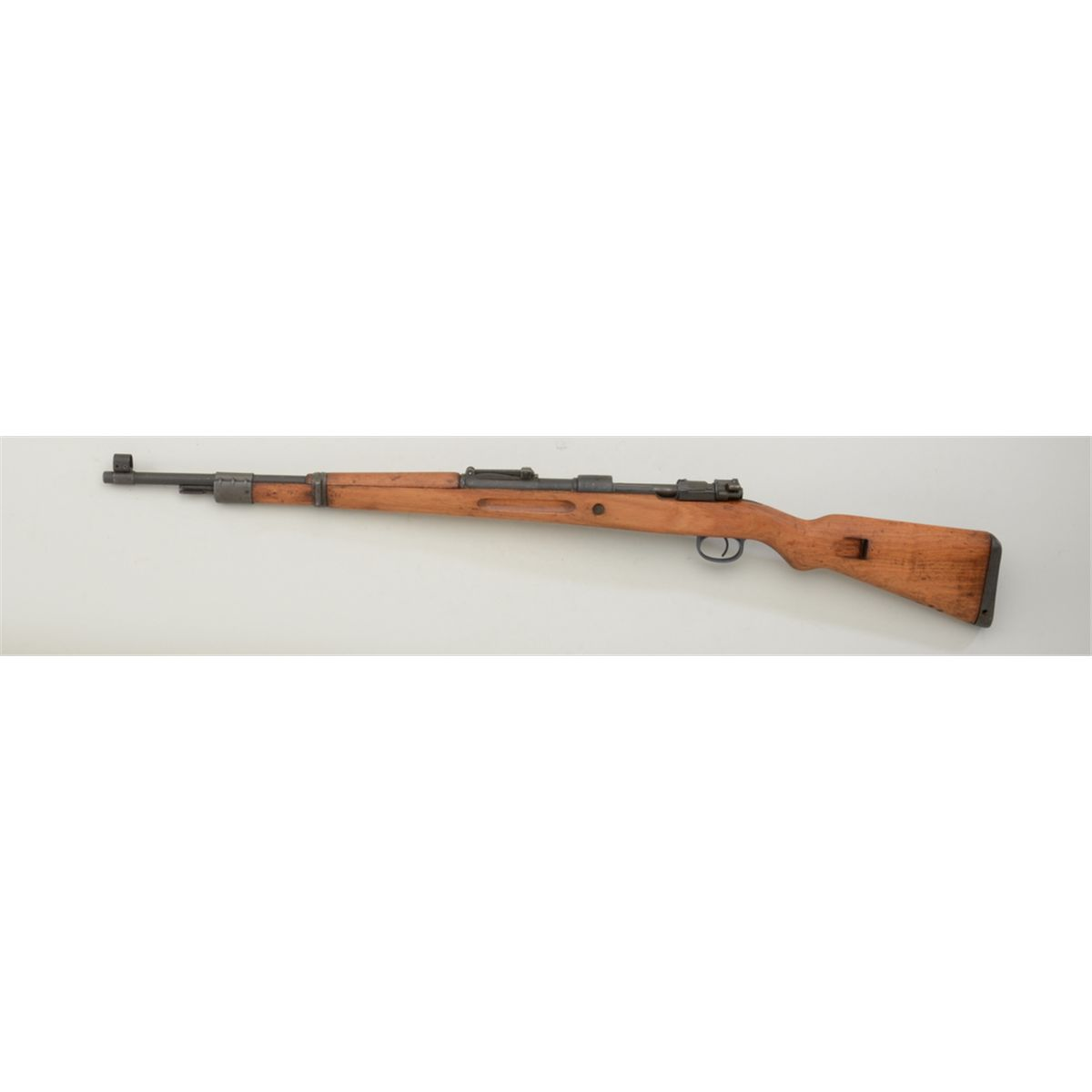 """Brno Mauser bolt-action military rifle, 7 62mm cal , 24"""" barrel,  re-parkerized finish, wood stock,"""