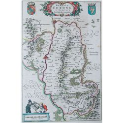 1654: Baronia Udrone Carlow Blaeu map
