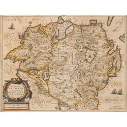 1659: Jan Jansson Provincia Ultonia The Province of Ulster map