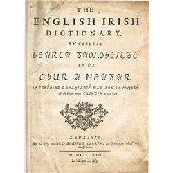 1732: MacCurtin and Begley English Irish Dictionary