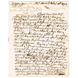 1740-64: Gorey, Wexford rent and property letters