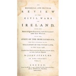 John Curry, An Historical and Critical Review of the Civil War in Ireland from the Reign of Queen El