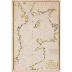 1798: French edition Huddart map of Irish Sea and St. George's Channel