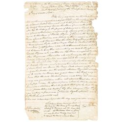"1803 (17 October) Carlow affidavit of evidence relating to secret society oath ""of a seditious natur"