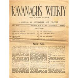 1815-1952: Collection of Irish periodicals and newspapers including Kavanagh's Weekly and The Dublin