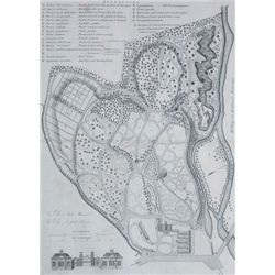 1817: Early plan of the Botanic Garden, Glasnevin, Dublin