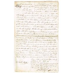 1820: Dublin bank failure compensation claim document